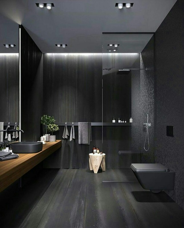 Black Bathroom - Home Decoration | Katalay.net
