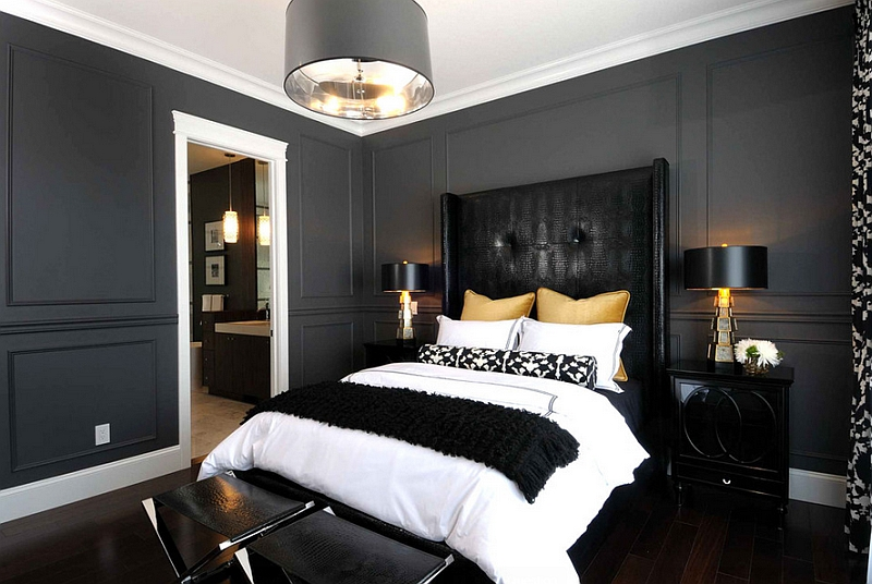 Bold Black And White Bedrooms