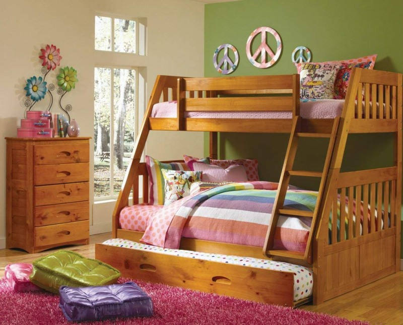 Discovery World Furniture Mission Twin Over Full Bunk Bed