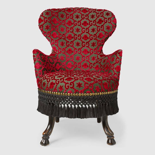 GG jacquard Armchair - Red By Gucci