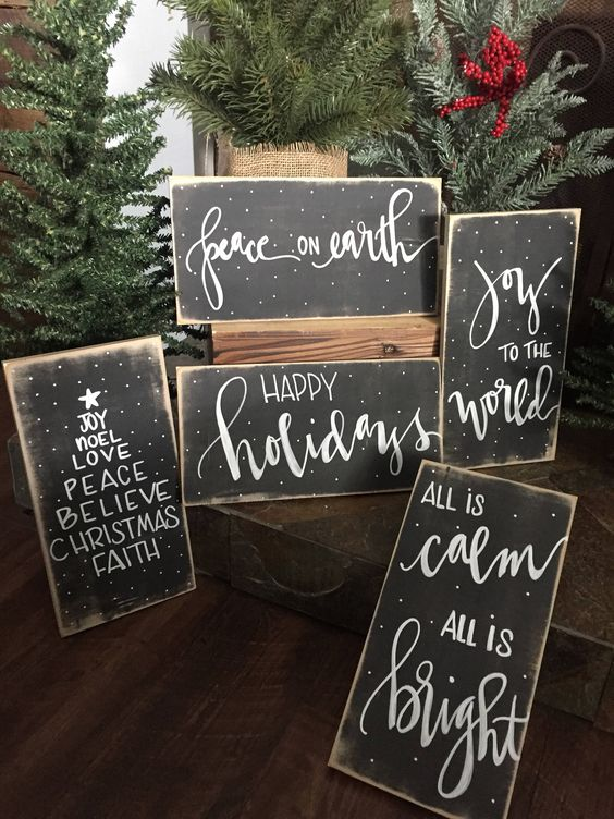 Merry Christmas Rustic Signs