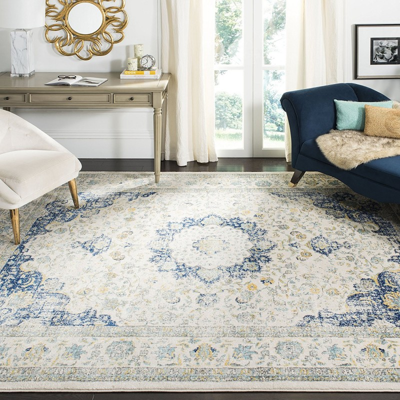 Safavieh Evoke Collection Vintage Oriental Ivory And Blue Area Rug