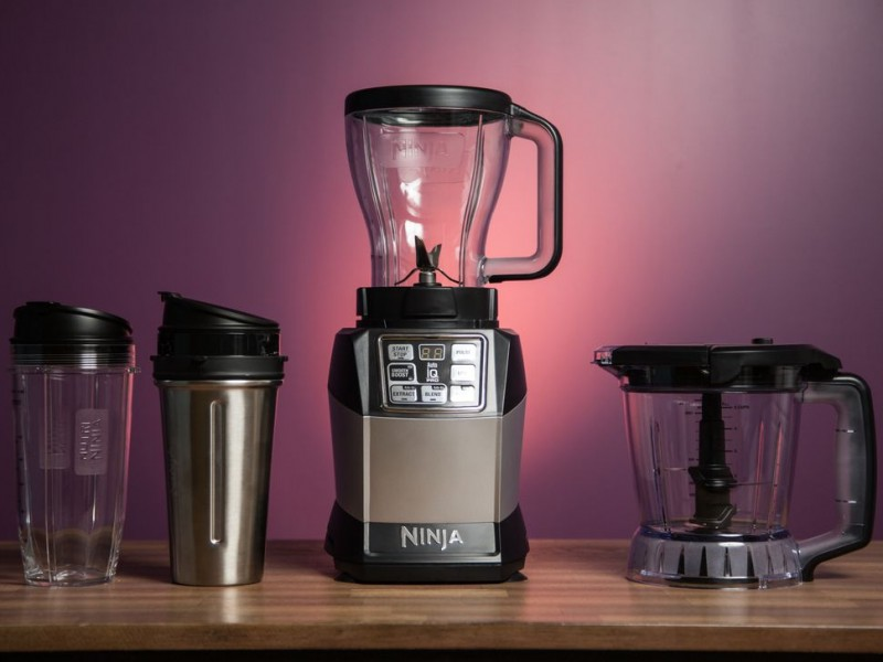 SharkNinja Blender Duo with Auto iQ, Silver/Black (Refurbished)