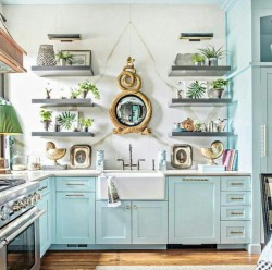 Iced Blue Kitchen