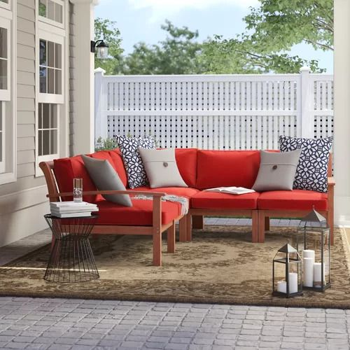 Rossi Patio Sectional With Cushions Outdoor Furniture